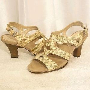 Aerosoles Snake Strappy Sandals (size 8)